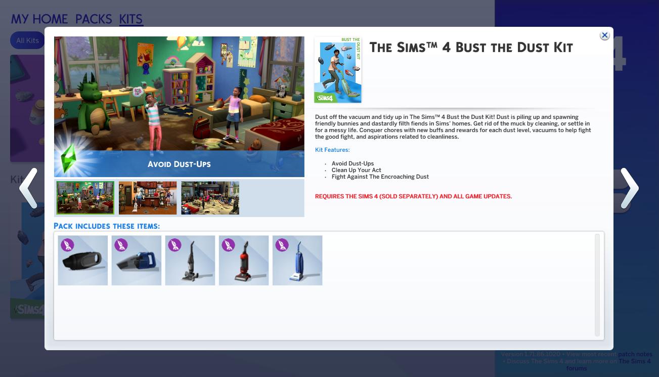 Contenidos de Los Sims 4 Zafarrancho de Limpieza - Kit
