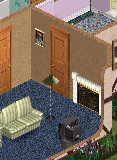 Cuadro de payaso en Los Sims 1