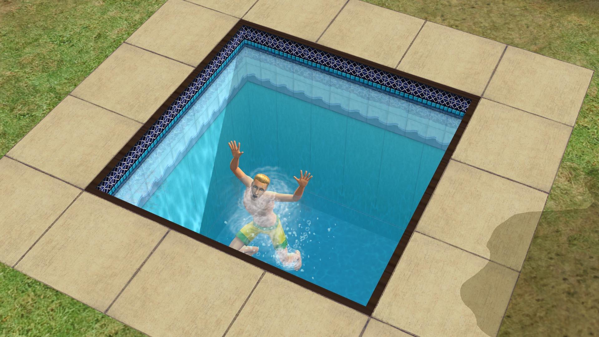 Berto Simblanca ahogándose