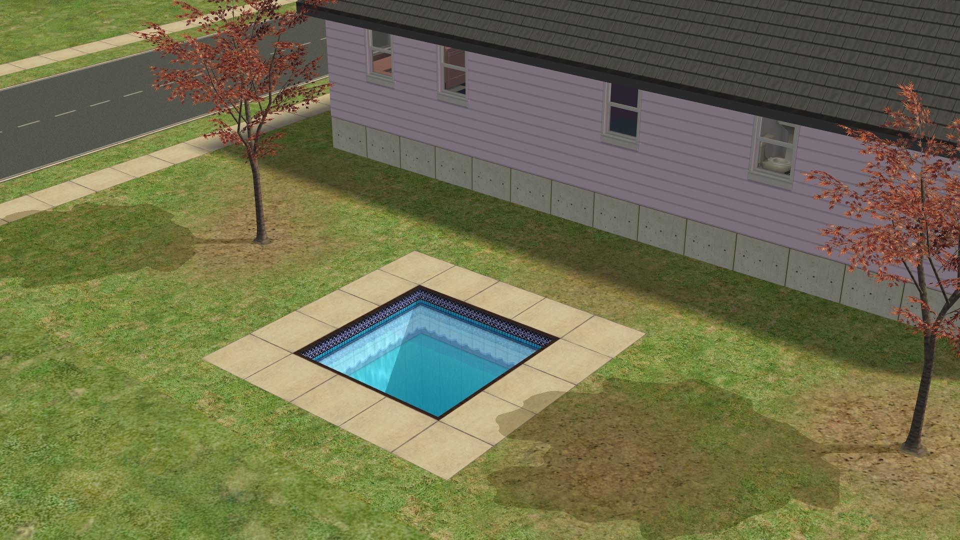 La piscina del patio trasero de los Simblanca