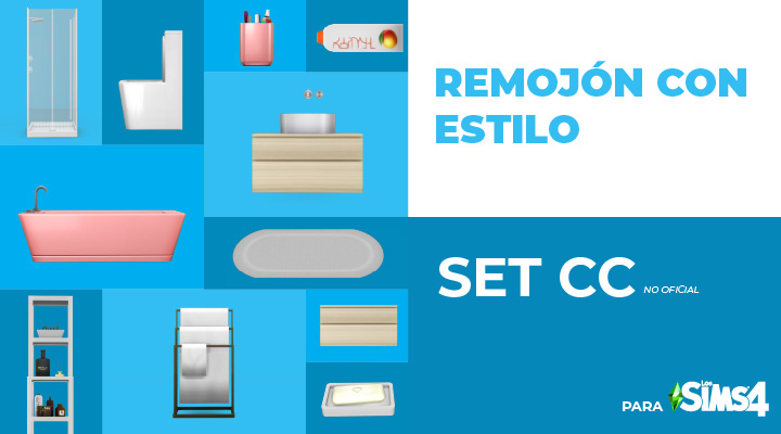 Remojón con estilo – Set CC para Los Sims 4