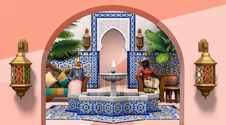 Filtrado Los Sims 4 Oasis en el Patio, próximo Kit del juego