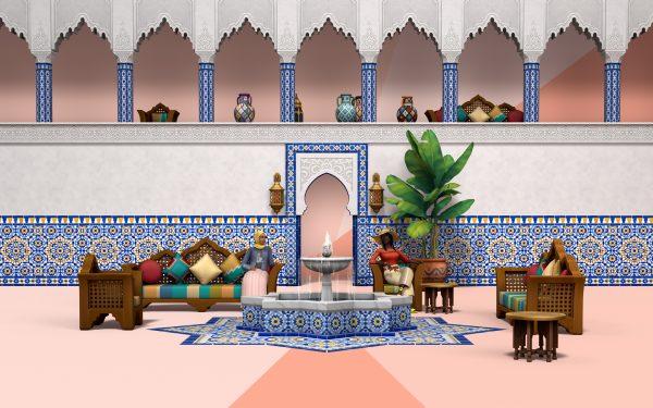 Los Sims 4 Oasis en el Patio - Render