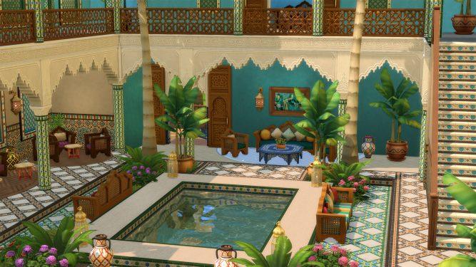 Los Sims 4 Oasis en el Patio - Captura de pantalla