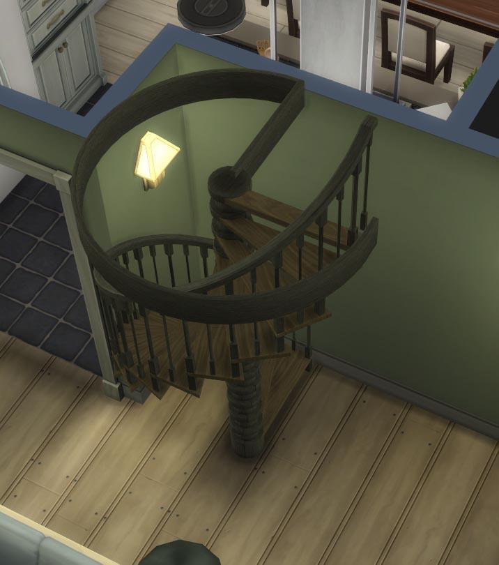 Escalera de caracol en Los Sims 4