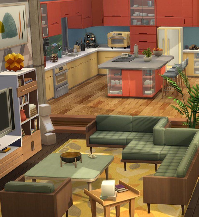 Sofás modulares en Los Sims 4
