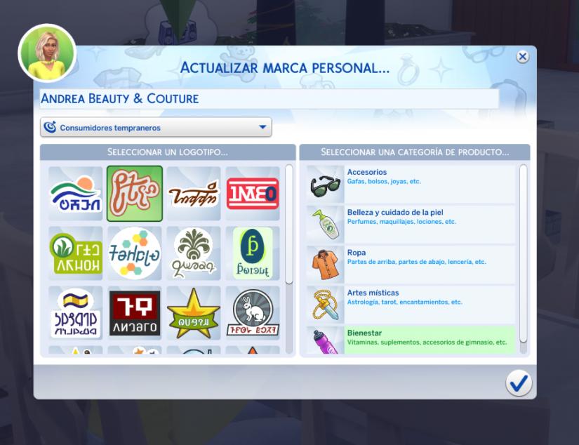 Problemas al crear una marca personal en Los Sims 4