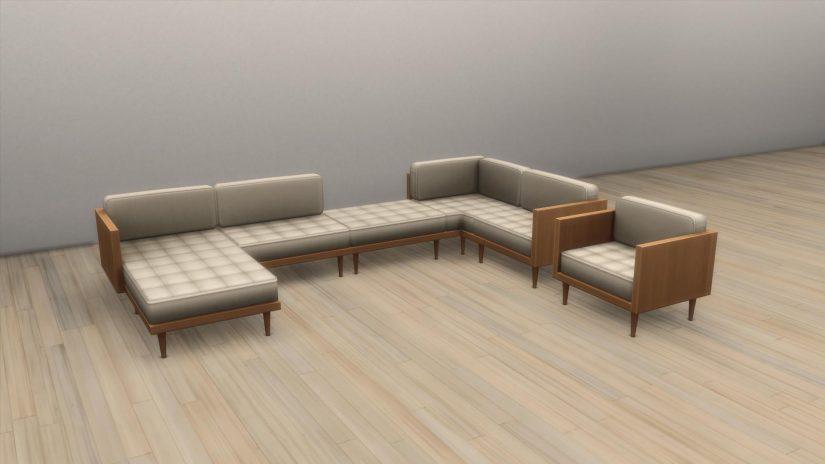 Sofás modulares en Los Sims 4 Interiorismo